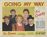 Going My Way (1944) <br /> Lobby card with Bing Crosby, Barry Fitzgerald, Rise Stevens &amp; Jean Heather<br /> *Filmstill - Editorial Use Only*<br /> CAP/MFS<br /> Image supplied by Capital Pictures