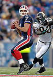 26 November 2006: Buffalo Bills quarterback J.P. Losman (7) looks downfield for a receiver against the Jacksonville Jaguars at Ralph Wilson Stadium in Orchard Park, NY. The Bills defeated the Jaguars 27-24. Mandatory Photo Credit: Ed Wolfstein Photo<br />
