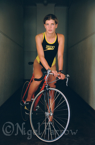 FEB 1999 - STELLENBOSCH, SOUTH AFRICA - South African triathlete Annelle Rabie. (PHOTO (C) NIGEL FARROW)