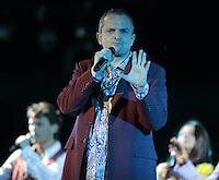 Miguel Bose durante  concierto en la Explanada de Poliforum de Leon Guanajuato el 8 mayo 2013.<br /> <br /> *Foto:TiradorTercero/NortePhoto*)