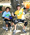 Alex Wolff and his older brother Nat Wolff of the Naked Brothers Band at the taping of Nickelodeon's Slime across America featuring SlimeBall in Newhall, California on July 2, 2007. Photo by Nina Prommer/Milestone Photo.