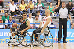 November 18 2011 - Guadalajara, Mexico:   David Eng of Team Canada defends in the CODE Alcalde Sports Complex at the 2011 Parapan American Games in Guadalajara, Mexico.  Photos: Matthew Murnaghan/Canadian Paralympic Committee