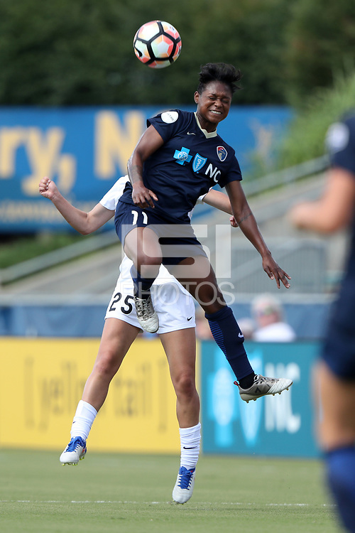 Cary, North Carolina  - Saturday June 03, 2017: Taylor Smith and Brittany Ratcliffe during a regular season National Women's Soccer League (NWSL) match between the North Carolina Courage and the FC Kansas City at Sahlen's Stadium at WakeMed Soccer Park. The Courage won the game 2-0.