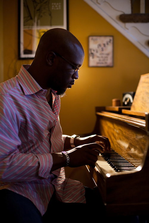 Orrin Evans, 2010 Pew Grant winner. Composer, Musician. Photographed in his home in Philadelphia, PA