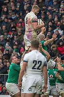 Twickenham, United Kingdom.   Natwest 6 Nations : England vs Ireland. George Kruis, at the  RFU Stadium, Twickenham, England, <br /> <br /> Saturday   17.03.18<br /> <br /> [Mandatory Credit; Peter Spurrier/Intersport-images]
