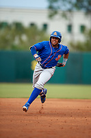 St. Lucie Mets third baseman Jhoan Urena (24) running the bases during a game against the Florida Fire Frogs on July 23, 2017 at Osceola County Stadium in Kissimmee, Florida.  St. Lucie defeated Florida 3-2.  (Mike Janes/Four Seam Images)