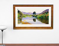 "Burtt: Summer On The Pond, Haze, Digital Print, , Framed Dims. 27"" x 44"" x 1"""