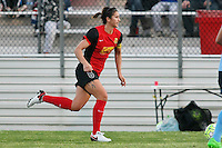 Piscataway, NJ, Saturday May 7, 2016. Western New York Flash defender Abby Erceg (6) dribbles the ball upfield. The Western New York Flash defeated Sky Blue FC, 2-1, in a National Women's Soccer League (NWSL) match at Yurcak Field.