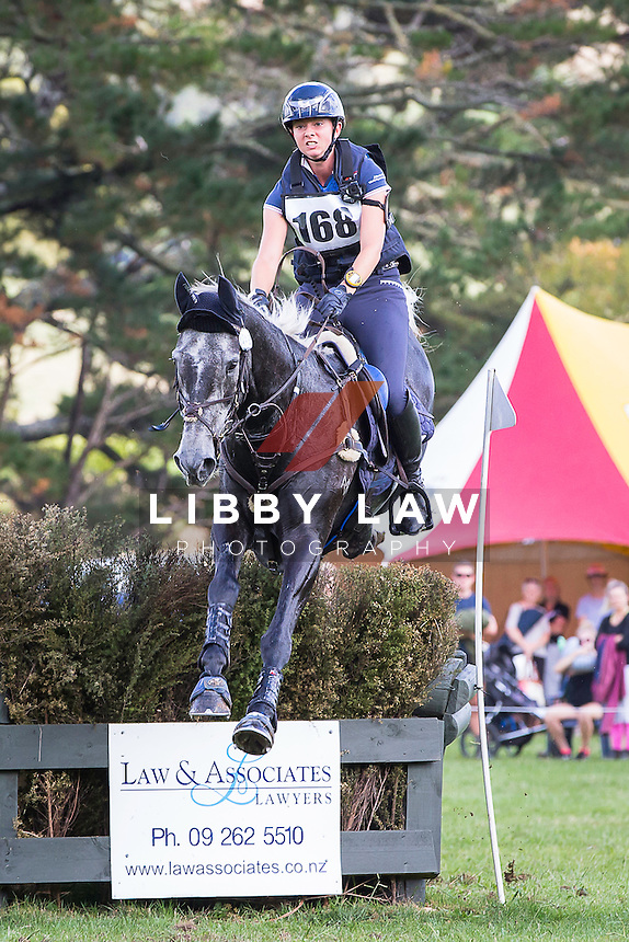 NZL-Samantha Felton (RICKER RIDGE FIGARO MVNZ) 2015 NZL-Troy Wheeler Contracting Springbush International Horse Trial (Sunday 29 March) CREDIT: Libby Law COPYRIGHT: LIBBY LAW PHOTOGRAPHY