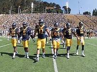 6 September 2014: California Golden Bears' 55-14 victory against Sacramento State Hornets during NCAA football game on Kabam Field at Memorial Stadium in Berkeley, California.