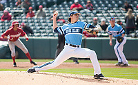 Rhode Island vs Arkansas Razorbacks Men's Baseball – Starting pitcher for Rhode Island Matt Murphy against Arkansas at Baum Stadium, Fayetteville, AR, Sunday, March 12, 2017.  © 2017 David Beach