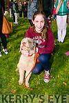 "At the St Patricks Day Dog show in aid of Recovery Haven in the Town Park on Thursday were Holly Geary with her dog ""Ivy""."