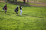 (R-L) Hideki Matsuyama (JPN),  Daisuke Shindo,<br /> June 15, 2013 - Golf :<br /> Hideki Matsuyama of Japan with his caddie on 9th hole during the third round of the U.S. Open Championship at the Merion Golf Club, East course in Haverford Township, Delaware Country, Pennsylvania. (Photo by Koji Aoki/AFLO SPORT) [0008]