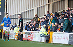 15.12.2019 Motherwell v Rangers: Ryan Jack laughing at angry Motherwell supporters