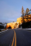 USA, Utah, a tunnel through the rock in Red Canyon, Hwy 89 South of Bryce Canyon