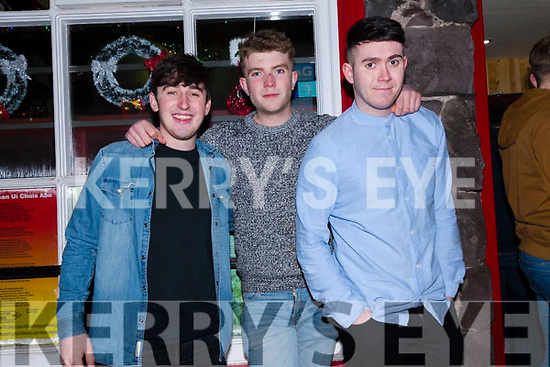 Robbie Long, Jess Kehan and Rory Kinane enjoying New Year's Eve celebrations in Dingle.
