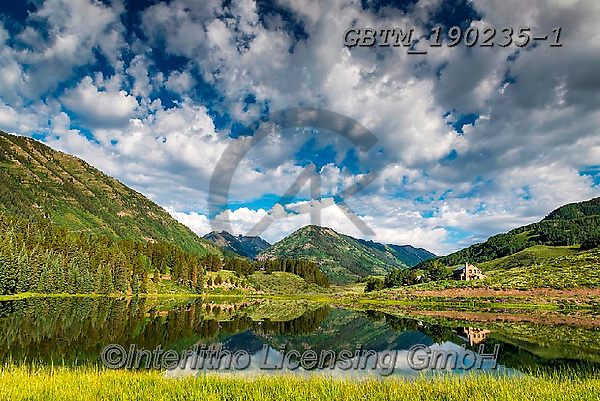 Tom Mackie, LANDSCAPES, LANDSCHAFTEN, PAISAJES, photos,+America, American, Colorado, Crested Butte, Nicholson Lake, North America, Tom Mackie, USA, beautiful, blue, cloud, clouds, c+loudscape, green, horizontal, horizontals, house, houses, lake, landscape, landscapes, mountain, mountains, nobody, reflect,+reflection, reflections, scenery, scenic, skies, sky, water, water's edge, weather,America, American, Colorado, Crested Butte+, Nicholson Lake, North America, Tom Mackie, USA, beautiful, blue, cloud, clouds, cloudscape, green, horizontal, horizontals,+,GBTM190235-1,#l#, EVERYDAY