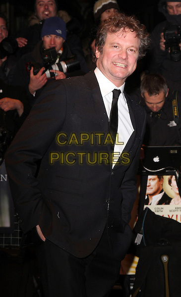 "COLIN FIRTH .London Film Festival screening of ""Easy Virtue"" at the Odeon West End, London, England, October 28th 2008.UK premiere half length black suit tie .CAP/ROS.©Steve Ross/Capital Pictures"