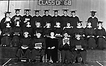 Copy of 1968 Graduation photo of Unadilla, Ga. High School with, Roy Lee Hunter (at far right) the first black student to ever graduate at the school. Copy photo by Jim Peppler for a NAACP Legal Defence & Education Fund flyer published in 1969. This and over 10,000 other images are part of the Jim Peppler Collection at The Alabama Department of Archives and History:  http://digital.archives.alabama.gov/cdm4/peppler.php