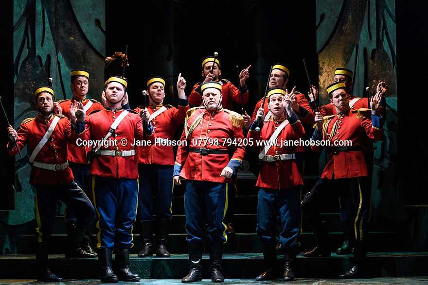 English Touring Opera presents PATIENCE, by Gilbert & Sullivan, at the Hackney Empire, prior to its UK tour. Picture shows: The company.