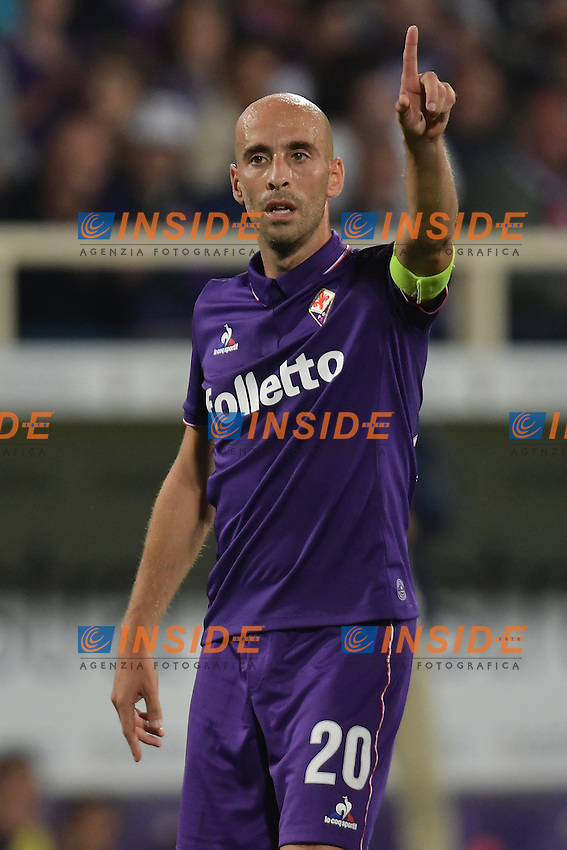 Borja Valero Fiorentina <br /> Firenze 25-09-2016  Stadio Artemio Franchi <br /> Campionato Serie A Fiorentina - Milan <br /> Foto Andrea Staccioli / Insidefoto