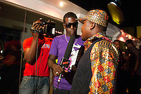 Kitz TV interviews a Hip Life star at Regie Rockstone's Office, a music venu on the ring road, Accra.