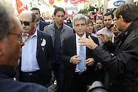 """Roma, 8 Ottobre 2011.Manifestazione nazionale CGIL dei  Lavoratori pubblici e della conoscenza.""""Pubblico è futuro"""".Nichi Vendola"""