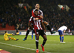 Ethan Ebanks-Landell of Sheffield Utd celebrates scoring the winning goal during the English League One match at the Bramall Lane Stadium, Sheffield. Picture date: November 22nd, 2016. Pic Simon Bellis/Sportimage