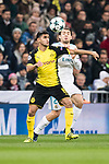Borussia Dortmund Mahmoud Dahoud (L) in action against Mateo Kovacic of Real Madrid (R) during the Europe Champions League 2017-18 match between Real Madrid and Borussia Dortmund at Santiago Bernabeu Stadium on 06 December 2017 in Madrid Spain. Photo by Diego Gonzalez / Power Sport Images