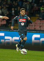 Dries Mertens during the Italian Serie A soccer match between   SSC Napoli and Atalanta  at San Paolo  Stadium in Naples ,March 22 , 2015<br /> <br /> <br /> incontro di calcio di Serie A   Napoli -Atalanta allo  Stadio San Paolo  di Napoli , 22  Marzo 2015
