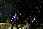 Bubbles rain down from the Bubble Gasm float lights up the parking lot outside the annual Capital Collage as dozens of artists from around the state of Nevada who performed or demonstrating their crafts at the annual  in Carson City, Nev., on Friday, October 27, 2017. <br /> Photo by Lance Iversen/Nevada Momentum