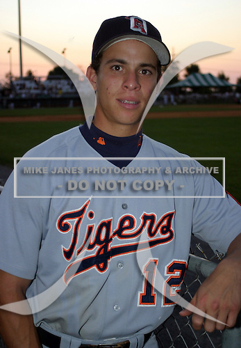 August 14, 2003:  Pedro Cotto of the Oneonta Tigers, Class-A affiliate of the Detroit Tigers, during a NY-Penn League game at Falcon Park in Auburn, NY.  Photo by:  Mike Janes/Four Seam Images