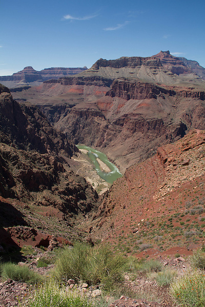Colorado River from the Tonto Plateau, Grand Canyon National Park, northern Arizona. .  John offers private photo tours in Grand Canyon National Park and throughout Arizona, Utah and Colorado. Year-round.