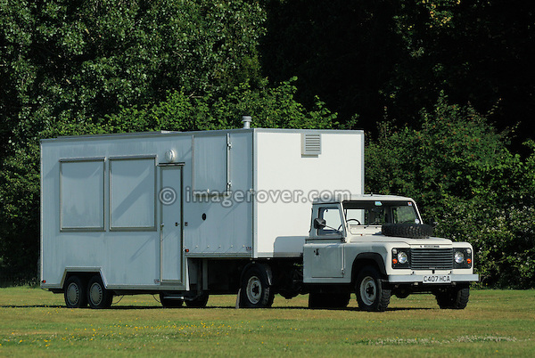 Articulated Land Rover Defender truck. Dunsfold Collection Open Day 2009. NO RELEASES AVAILABLE.