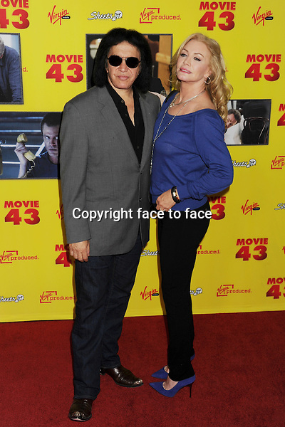 "HOLLYWOOD, CA - JANUARY 23: Gene Simmons and Shannon Tweed attend the premiere of Relativity Media's ""Movie 43"" at TCL Chinese Theatre on January 23, 2013 in Hollywood, California. ..Credit: Mayer/face to face..- No Rights for USA, Canada and France -"