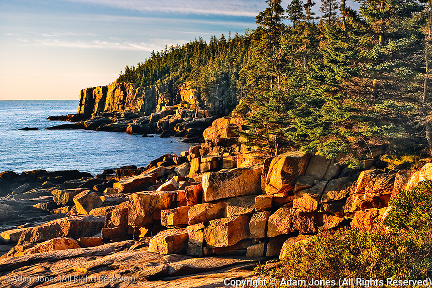 Otter Clifff at sunrise, Acadia National Park, Maine