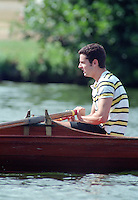 Henley, GREAT BRITAIN,  Men's Skiff  Single Scull. 1995 National Skiff Rowing Championships, Henley Reach Henley on Thames. Berkshire [Mandatory Credit, Peter Spurrier/Intersport-images