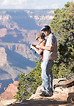 Amateur photographers take photos of the Grand Canyon.<br />
