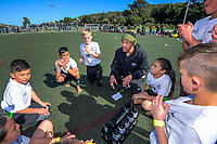 Fiji coach James Laufiso talks to his Western Heights School (Auckland) team during the final on day two of the 2019 Air NZ Rippa Rugby Championship at Wakefield Park in Wellington, New Zealand on Tuesday, 27 August 2019. Photo: Dave Lintott / lintottphoto.co.nz