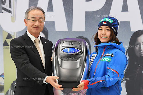 (L-R) Kazuo Hosoya, Sara Takanashi, <br /> NOVEMBER 1, 2016 - Ski Jumping :<br /> 2016/2017 SAJ Team Japan TAKE OFF Press Conference<br /> at SUBARU STAR SQUARE, Tokyo, Japan.<br /> (Photo by AFLO SPORT)