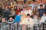 21st birthday: Celebrating his 21st birthday in Quilters Bar, Lixnaw, on Friday night was Raymond Galvin (seated centre) with his friends and family..