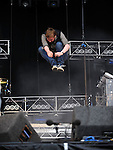Ricky Wilson of the Kaiser Chiefs performing at the Oxegen Music Festival 2008 Punchestown County kildare Republic of Ireland. Photo: Colin Bell/NEWSFILE