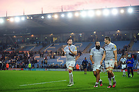 Bath Rugby players do a lap of the pitch after the match. Aviva Premiership match, between Exeter Chiefs and Bath Rugby on October 30, 2016 at Sandy Park in Exeter, England. Photo by: Patrick Khachfe / Onside Images