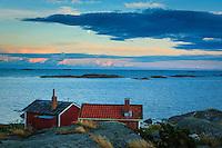 Fiskebodar på Lilla-Nassa i Stockholms ytterskärgård