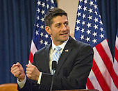 "United States House Speaker Paul Ryan (Republican of Wisconsin) delivers a speech on the ""State of American Politics"" to a bipartisan group of US House interns on Capitol Hill in Washington, DC on Wednesday, March 23, 2016.  In his remarks the Speaker said ""Politics can be about a battle of ideas, not insults.  It can be about solutions.  It can be about making a difference."" <br /> Credit: Ron Sachs / CNP"