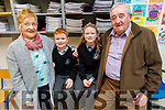 Shane and Maeve O'Connell with grandparents Cait and Willie O'Dowd at the Grandparents Day in  Scoil Nuachabháil on Friday