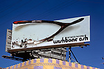 Billboard for rock group Wishbone Ash on the Sunset Strip in Los Angeles, CA