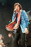 "Rolling Stones lead singer Mick Jagger performing at the Citrus Bowl in Orlando, Fla., Sunday, Dec. 7, 1997, during the ""Bridges to Babylon"" tour.(Brian Myrick)..PHOTO 2 CITY"
