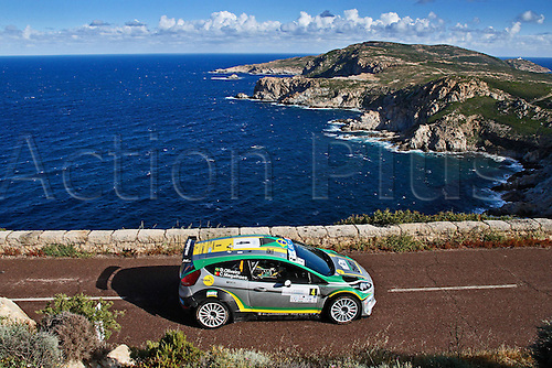 17.05.2013. Corsica.   Daniel Oliveira BRA Antonio Costa PRT Ford Fiesta RRC Automobiles Rally Tour de Corse , Rallye de France.