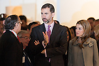 Princess Letizia Ortiz and Felipe de Borbon in the Opening of ARCO Art Fair in Madrid